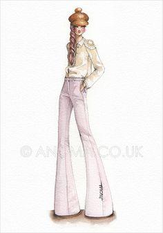 Fashion Illustration: Burberry Prorsum - Resort 2012 by Anoma Natasha Paleebut, via Flickr