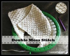 Loom Knit the Double Moss Stitch Pattern – Loom Knitting Videos Round Loom Knitting, Loom Knitting Stitches, Spool Knitting, Loom Knitting Projects, Knifty Knitter, Knitting Videos, Easy Knitting, Double Knitting, Loom Knitting Blanket