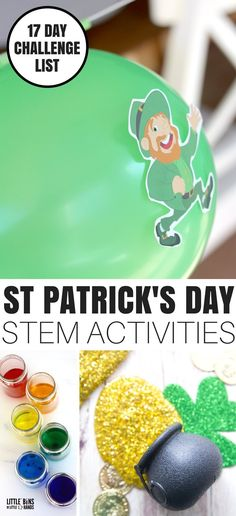St Patricks Day STEM Activities and St Patricks Day Science Experiments and Activities. Also learn how to make St Patricks Day slime recipes for kids