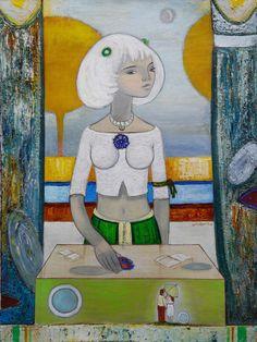PURITY, Revaz Kvaratskheliya Sukhumi, The Black Sea region, georgia; son of the artist Alexei Kvaratskheliya) Black Sea, Georgia, Artist, Painting, Artists, Painting Art, Paintings, Painted Canvas, Drawings
