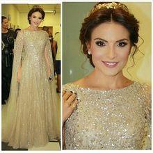 Wunderschöne Nahen Osten Champagne Abendkleid mit Wrap Perlen funkelnden Kristall Lange Abendkleid Partei-Kleid Vestido De Festa //Price: $US $199.00 & FREE Shipping //     #dazzup
