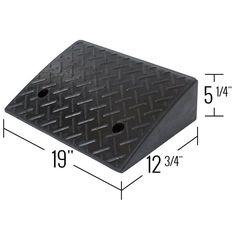 Heavy duty rubber curb ramp dimensions