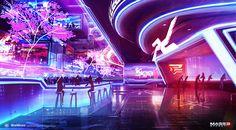 Mass Effect 3 - Casino Bar, Alex Figini on ArtStation at http://www.artstation.com/artwork/mass-effect-3-casino-bar