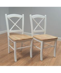 Country Cottage Dining Chair (Set of 2)- I could add padding and recover the chair in a pretty design