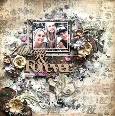 Hello 2 Crafty fans!! Rach with you sharing my March inspiration..... My first layout featuring yours truly & my two kids!!! 'Always ...
