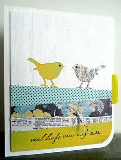 Bird Dies (Memory Box) - love the mix of DP and the birds that match!