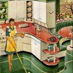 Simple and Stylish Ideas: Kitchen Remodel Design Open Shelves open kitchen remodel hardware.Old Kitchen Remodel House kitchen remodel tile layout. Images Vintage, Photo Vintage, Vintage Stil, Vintage China, Vintage Decor, 1950s Decor, Style Vintage, Vintage Green, Retro Style