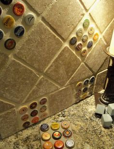 Bottlecaps  splashback