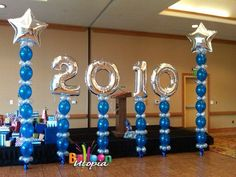 San Diego Room Decor Gallery by Balloon Utopia Homecoming Decorations, Graduation Party Centerpieces, Graduation Party Planning, Graduation Balloons, Graduation Celebration, Graduation Party Decor, Grad Parties, Balloon Decorations, Banquet Decorations