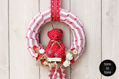 or with this and for kid's room 4th Of July Wreath, Kids Room, Teddy Bear, Wreaths, Christmas Ornaments, Decoration, Holiday Decor, Interior, Wall