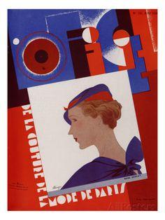 L'Officiel, April 1934 - Rose Descat Art Print