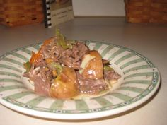 Venison roast in the crock pot (without using cream of mushroom soup!)