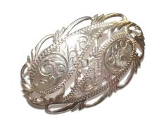 Stamped 925 Sterling Silver Fancy Brooch
