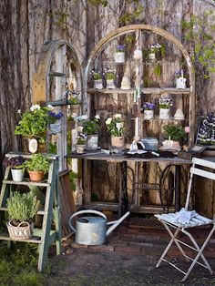 Mod Vintage Life: Potting Benches Revisited