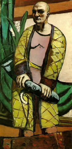 'Self-Portrait with Saxophone' (1930) by German painter Max Beckmann (1884-1950). via a long time alone