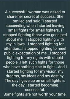 A successful woman was asked to share her secret of success Great Quotes, Quotes To Live By, Me Quotes, Motivational Quotes, Inspirational Quotes, Was Ist Pinterest, Secret To Success, Successful Women, Note To Self