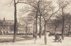 Nous voici dans le square de la place d'Italie, vers 1900 (Paris 13ème)