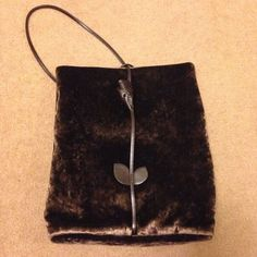 NEW Vintage Linea Duart by Artigianato 2000 Brown Velvet Shoulder Bag #LineaDuartbyArtigianato2000 #ShoulderBag