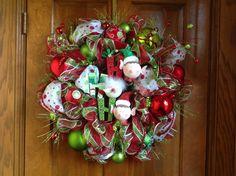 Ho Ho Ho Elf Wreath by HertasWreaths on Etsy