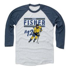 Mike Fisher Play B Nashville Officially Licensed NHLPA Baseball T-Shirt Unisex S-3XL