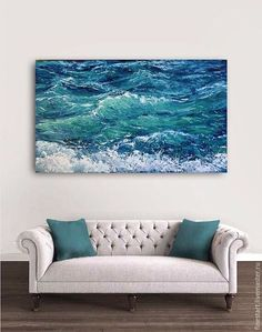 Buy Oil painting sea wave by Irina Dimcheva / sea by artist Irina Dimcheva painting Buy Oil painting sea wave by Irina Dimcheva / sea by artist Irina Dimcheva painting - - Seascape Paintings, Landscape Paintings, Painting Art, Painting Furniture, Water Art, Sea Art, Painting Techniques, Painting Inspiration, Art Pictures