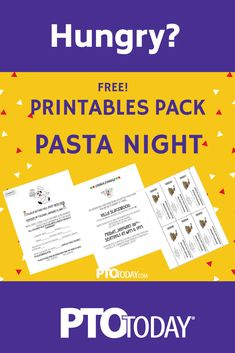 Get ready for the iconic PTO event -- Pasta Night! Spaghetti Dinner, School Events, Creating A Business, Pta, Winter Activities, Event Ideas, Flyers, Fundraising, Invites