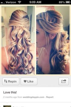I want my hair like this for my wedding