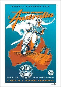 Vespa tour around Australia.