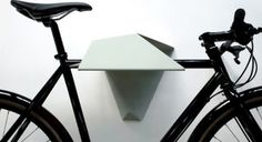 Hood by London based design studio Quarterre is a minimal and clever bike rack, ideal for limited spaces. The architecturally inspired form is made from folded sheet steel that will support a bike . Bike Storage Options, Bike Storage Design, Bicycle Storage, Rack Design, Bicycle Rack, Design Design, Bicycle Stand, Bicycle Tools, Bicycle Wheel