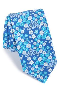 Men's Ted Baker London 'Swimsuit' Floral Cotton Tie