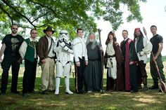 Many themes in this geeky wedding party!