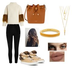 Pumpkin spice by muchakitas on Polyvore featuring polyvore, fashion, style, Saks Potts, River Island, BUSCEMI, Henri Bendel, BERRICLE, Burberry and clothing