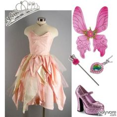 Really cool pink dress - with or without the wings.