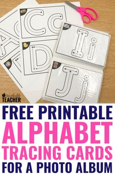 This super cheap, easy DIY alphabet tracing book is sure to be a hit with your students! Get free traceable alphabet worksheets here! literacy activities for home Preschool Literacy, Preschool Letters, Free Preschool, Preschool Printables, Learning Letters, Free Printables, Free Math, Preschool Learning Activities, Alphabet Activities
