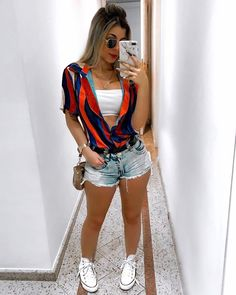 Pin by Vanessacramirez on Ropa de moda mujer in 2020 30 Outfits, Cute Summer Outfits, Girl Outfits, Casual Outfits, Cute Outfits, Fashion Outfits, Fashion Clothes, Fashion Mode, Fashion Week