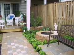 Small backyard I have a fire pit that doesn't get used and has a rusty bowl I could turn into a fountain like that!