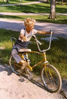 Mine was purple metallic Banana Seat Bike, Bless The Child, Gift From Heaven, Good Old Times, Those Were The Days, We Are Young, My Youth, Back In Time, Finland