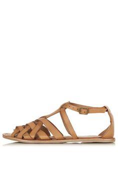 227d719fc515b1 HIPPY Woven Detail Sandals Schuhe Flache Sandalen