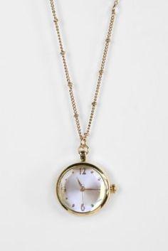 Delicate Antique Watch Pendant Necklace