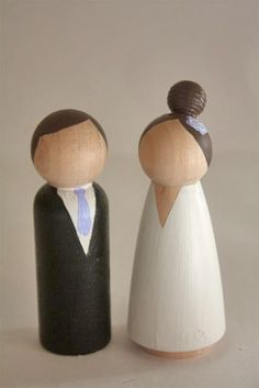 Bride and Groom Peg People : Factory Direct Craft Blog