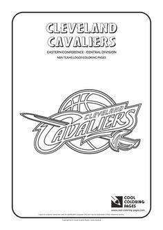 Cool Coloring Pages - NBA Teams Logos / Cleveland Cavaliers logo / Coloring page…