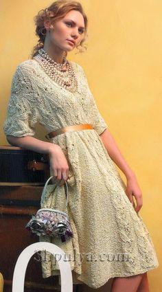 """Платье в винтажном стиле с узором """"Бабочки"""""""