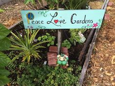 New peace sign in the community garden