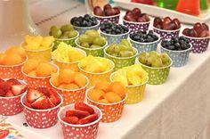 Festas infantis com comidas saudáveis Mais