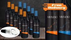 Buy Luxury 12-Bottle Collection of Merlot and Pinot Noir and FREE decanter - Free Delivery! UK deal for just: £39.99 Raise a toast to the Luxury 12-Bottle Collection of Merlot and Pinot Noir      Includes 6 x bottles of Merlot and 6 x bottles of Pinot Noir      Comes with a free decanter to get the perfect pour.      Perfect for red wine enthusiasts and dinner parties      Two excellent...