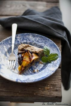 Galette prugne, pesche e basilico  #latartemaison