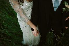 Jenny Packham Tuberose Gown | Errol Park Wedding Venue in Scotland | Outdoor Humanist Ceremony | Pink Bridesmaid Dresses | Tub of Jelly Photography | http://www.rockmywedding.co.uk/kat-graham/