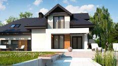 Projekt domu Z284 D GP2 Wersja projektu Z284 D z garażem dwustanowiskowym z prawej strony. Home Fashion, Mansions, House Styles, Outdoor Decor, Home Decor, Decoration Home, Manor Houses, Room Decor, Villas
