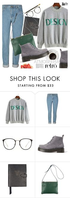 """Casual"" by pokadoll ❤ liked on Polyvore featuring Linda Farrow, Smythson, CÉLINE, Sheinside and shein"