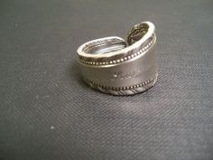 #R283, Old London, Seaview Country club size 9-1/2,Spoon ring, Silverplate